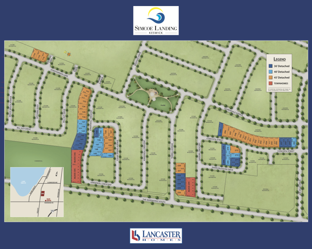 Simcoe Landing New Home Lot Plan