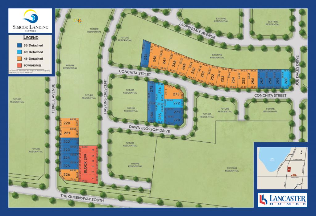 Simcoe Landing Site Plan