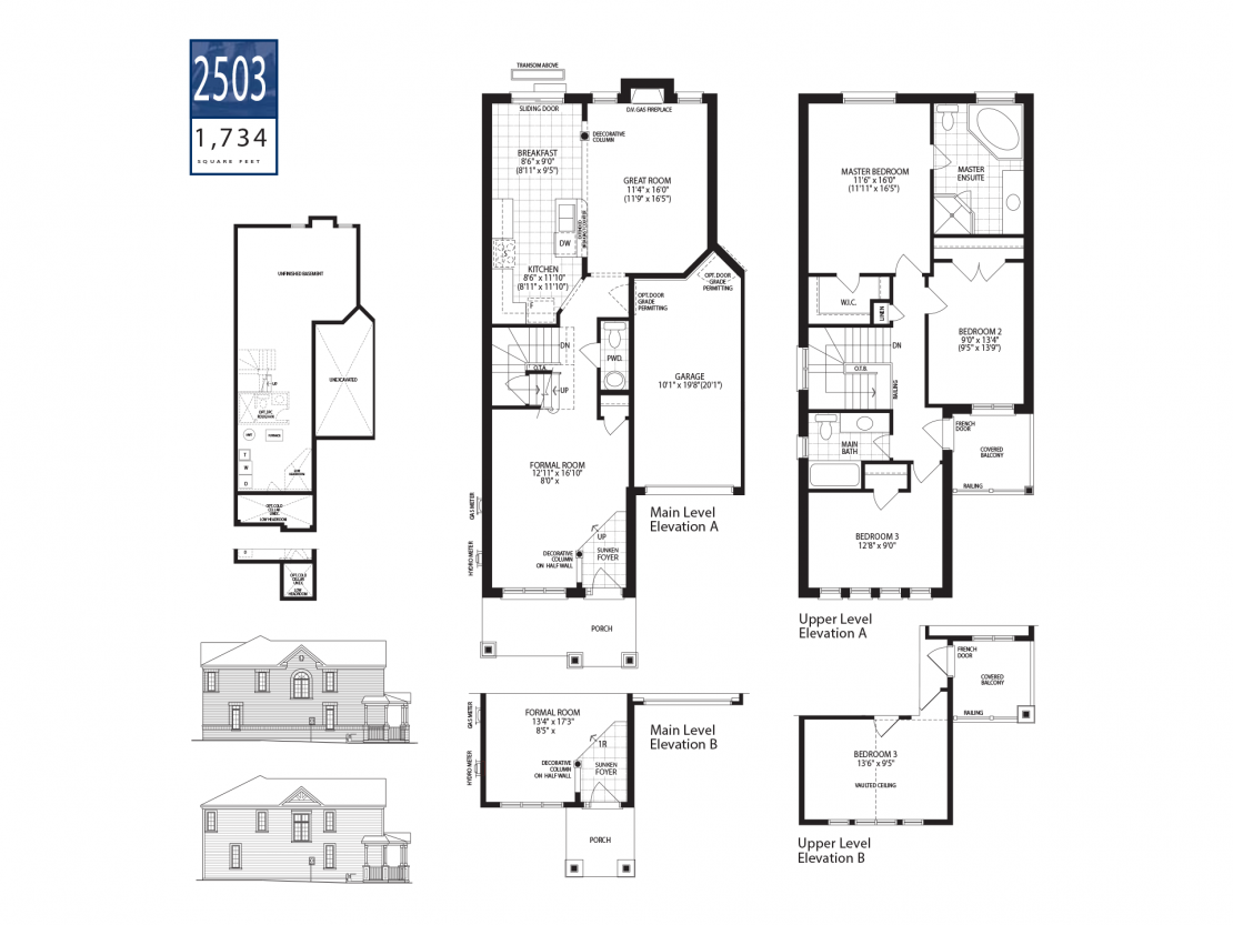 Townhome 2503  -  Floor Plan