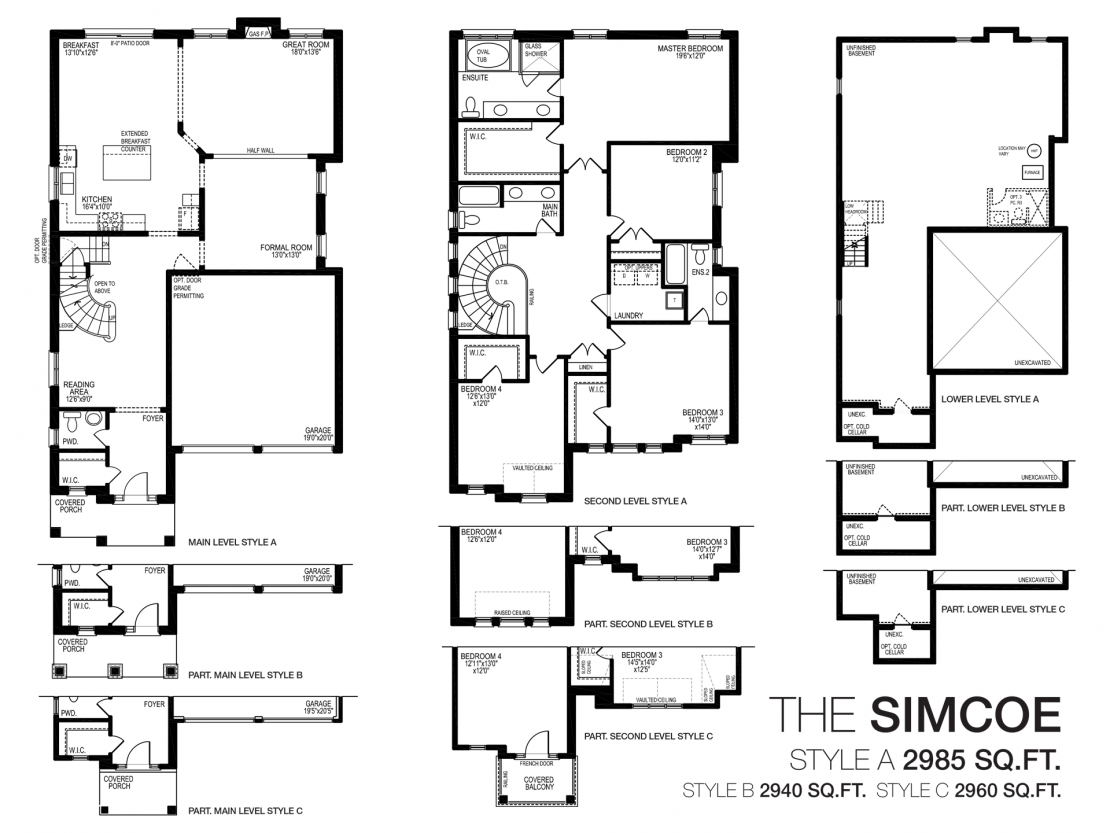 The Simcoe  -  Floor Plan